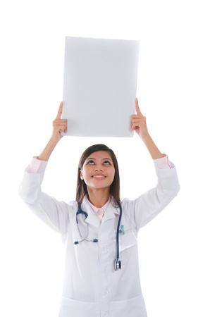 brunette asian hispanic doctor woman photo
