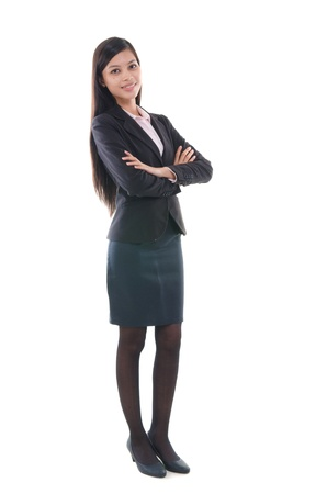 south asian: malay business woman  in full body Stock Photo