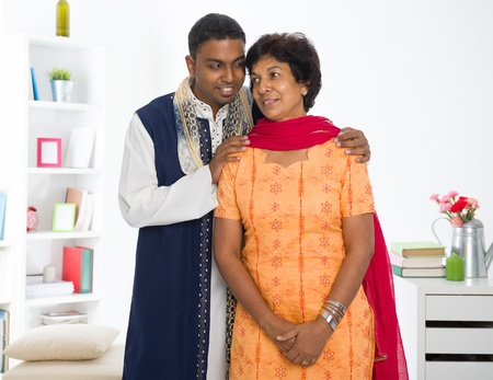 punjabi family ,mother and son with traditional punjab dress Stock Photo - 16988005