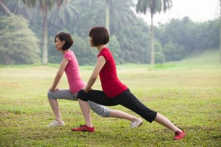 atleta corriendo: mujer asiática entrenamiento al aire libre, Chino