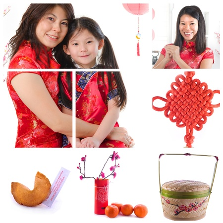 girl in red dress: chinese new year montage