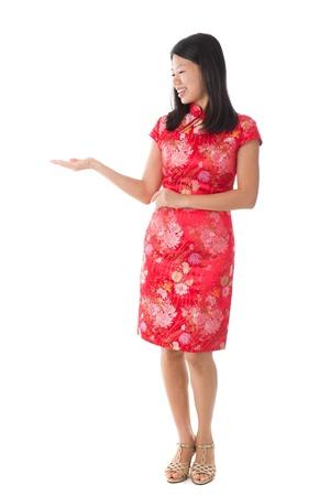 chinese new year asian girl in full body photo