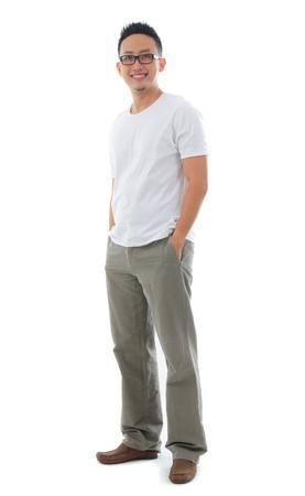 Hombre asiático ocasional
