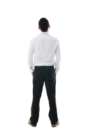 asian business man back view Stock Photo - 17046554