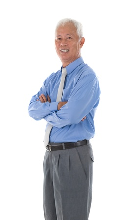 south asians: senior south east asian business man Stock Photo