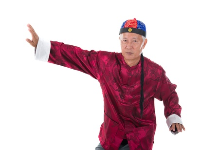 old senior chinese kung fu master photo