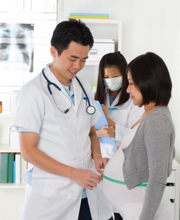 asian medical pregnancy check up Stock Photo - 17497371