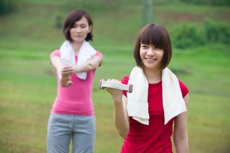 ni�as chinas: ni�as chinas que se resuelve en parque