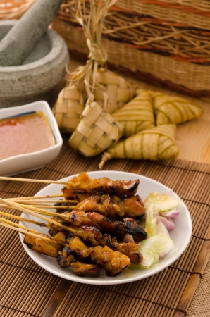 satay aliments traditionnels malais photo