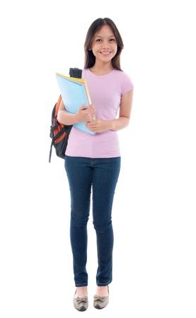 university choice: malay asian student standing  Stock Photo