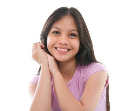 filipino adult: close up potraot of asian malay student Stock Photo