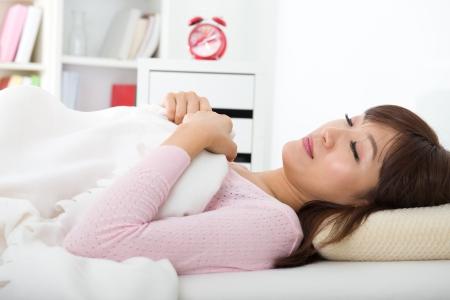 chinese asian girl sleeping Stock Photo - 17643520