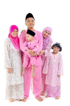 malay family during hari raya photo
