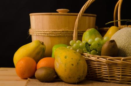 fruits in dark background Stock Photo - 17731020