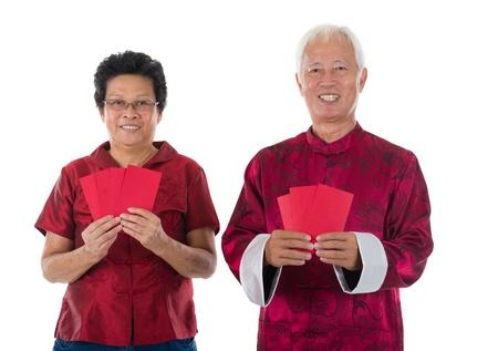 gong xi fa cai: gong xi fa cai senior chinese new year couple