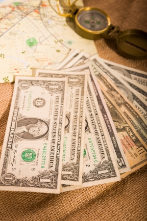traveling with US dollars photo