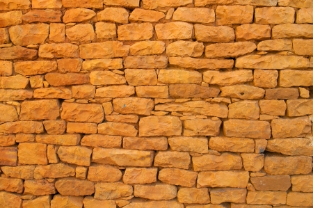 ancient red brick wall for background purpose