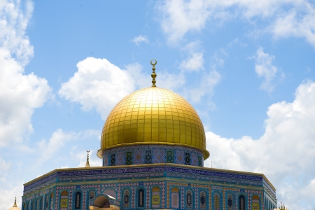 jews: Mosque Dome of the Rock on the Temple Mount, Jerusalem, Israel, Palestine