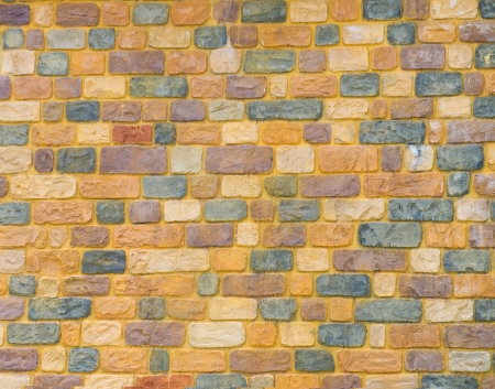 yellow brick wall for background texture purpose Stock Photo - 18879446