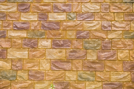 yellow brick wall for background texture purpose Stock Photo - 18879448