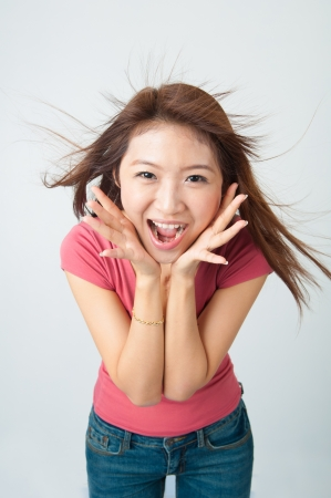 shocked chinese asian Stock Photo - 18843752