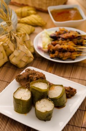 lemak lemang ,malay food during festival of hari raya photo