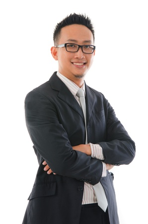 chinese man in full formal wear and smiling photo