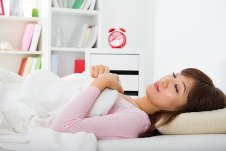 chinese Asian female having a good sleep at home Stock Photo - 19387462