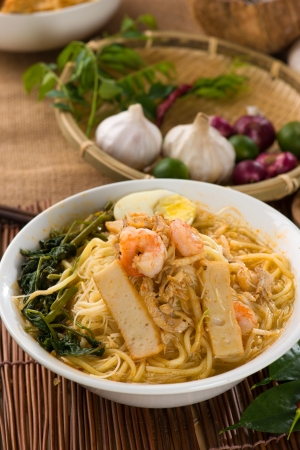 hoon: prawn noodles also known as har mee, famous food in Malaysia