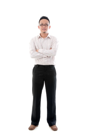 adult indonesia: indonesian business man isolated on white background, full body