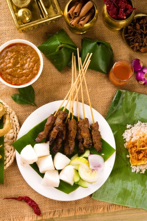 various malaysia food during hari raya ramadan festival photo