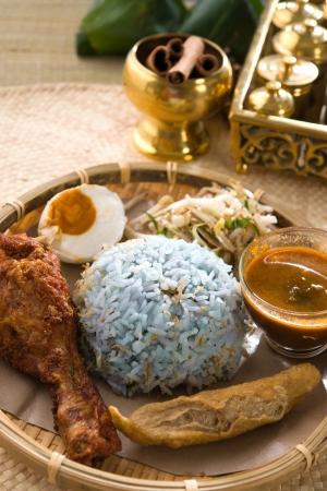 Nasi kerabu popular ramadan food in malaysia photo
