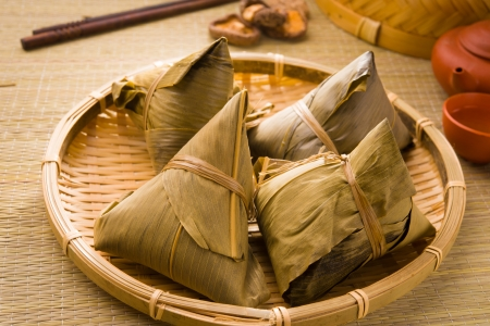 chinese dumplings, zongzi usually taken during duanwu festival occasion