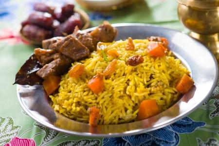 arabian food: arab food, ramadan foods in middle east usually served with tandoor lamb