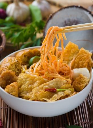 singapore curry noodle photo