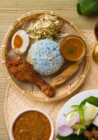 east coast: Nasi kerabu popular ramadan food in malaysia