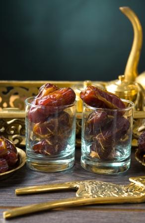 arabian food: Palm dates, ramadan food also known as kurma   Stock Photo