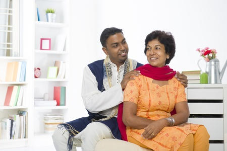 punjabi family mother and son with lifestyle setting Stock Photo - 21145492
