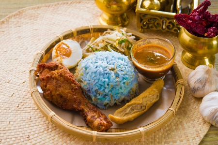 Nasi kerabu popular ramadan food in malaysia   photo