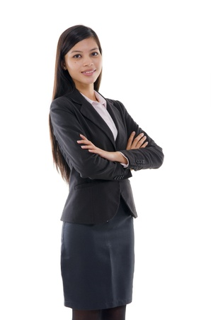 thai student: confident looking malay business woman   Stock Photo