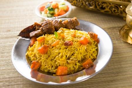 arabian food: arab food, ramadan foods in middle east usually served with tandoor lamb   Stock Photo