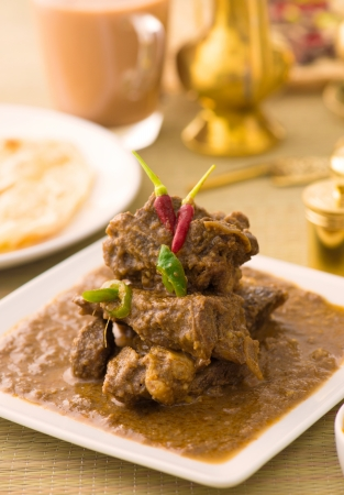 mutton curry korma , indian food photo