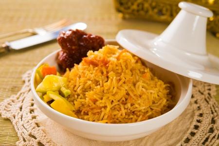 clay pot: arab rice in a tajine