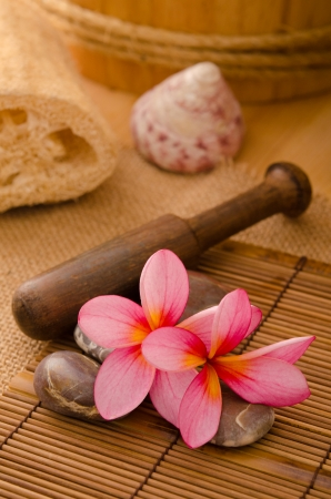 Balinese Spa setting. Low lighting, suitable for spa related theme. Stock Photo - 22639432