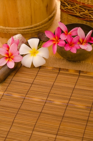 Balinese Spa setting. Low lighting, suitable for spa related theme. Stock Photo - 22639436