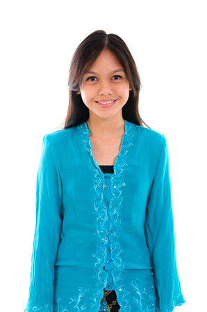 young muslim malay girl with traditional clothes Stock Photo - 22483684
