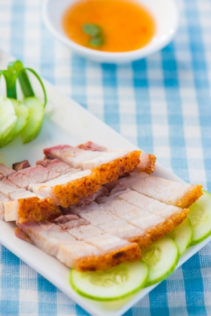streaky: chinese roast pork belly with chilli sauce