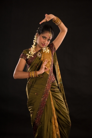 indian female dancer during diwali festival of lights   photo