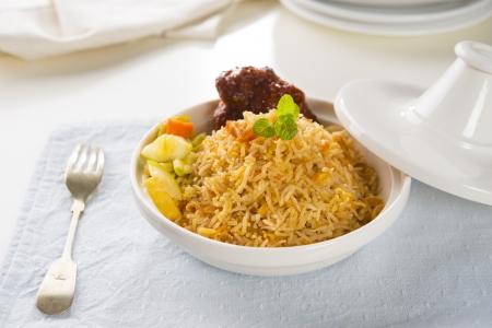 tandoori chicken: Chicken Biryani rice in tajine
