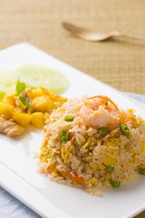 thai pinapple fried rice food photo